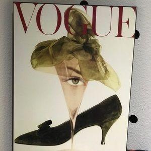 Vogue Wall Art - Vogue Magazine surrealist Cover Wood Art 16x20